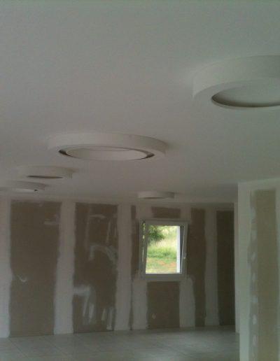 4 plafonnier LED en plâtre staff éteint